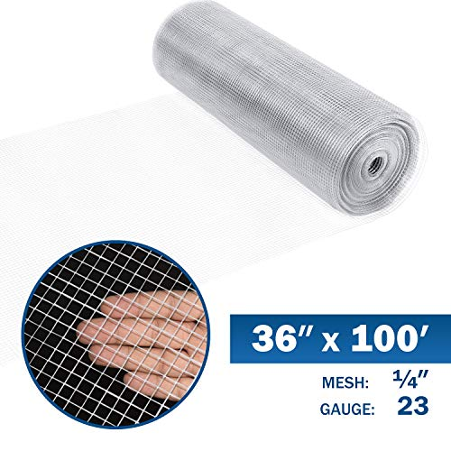 Origin Point 122410 23-Gauge Galvanized Hardware Cloth Fence 10-Foot x 24-Inch With 1//4-Inch Openings