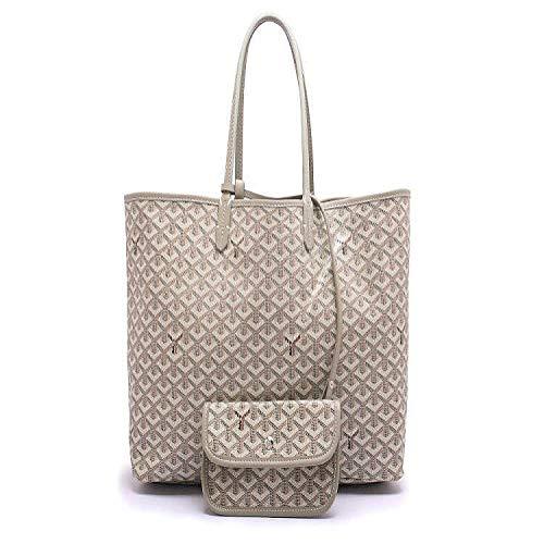 CZHJG Rucksackbeutelart Und Weise Heiße Einkaufstascheschulterbeutel Weibliche Dampfermutterbeutelaprikose