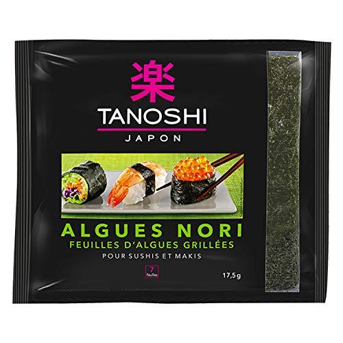 Tanoshi Feuilles dAlgues Nori pour Sushis et Makis - 7 feuilles (17,5 g) - Lot de 30