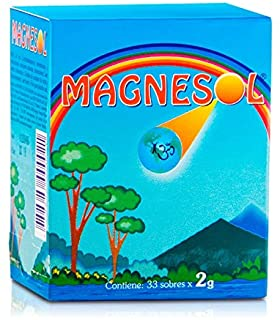 Magnesol Magnesium Supplement - Magnesium Chloride with Zinc Oxide - Powder Form - 260mg / Sachet - No Artificial Ingredie...