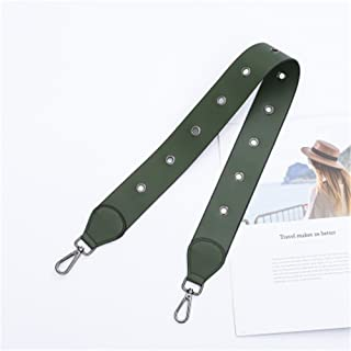 Hollow Style Length 120cm Strap replacement women bag / messenger bag strap Black buckle Shape DIY (Green)