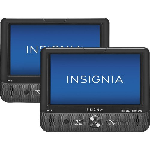 "Insignia 9"" Dual Screen Dual Disc Portable DVD Players"