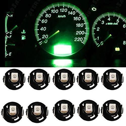 Eleganantstunning LED-Leuchtmittel, T4.2, 12 V, für Armaturenbrett, Armaturenbrett, Lampen, 10 Stück T4.3 Green