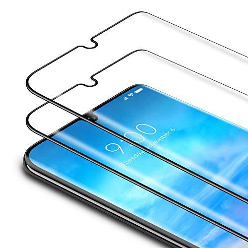 Bewahly Cristal Templado para Xiaomi Mi Note 10/Note 10 Pro/Note 10 Lite [2 Piezas], 3D Curvado Completa Cobertura Protector Pantalla, 9H Dureza Alta Definicion Vidrio Templado Sin Burbujas