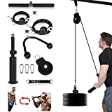 Mikolo Fitness LAT and Lift Pulley System, Dual Cable Machine(70'' and 90'') with Upgraded Loading...