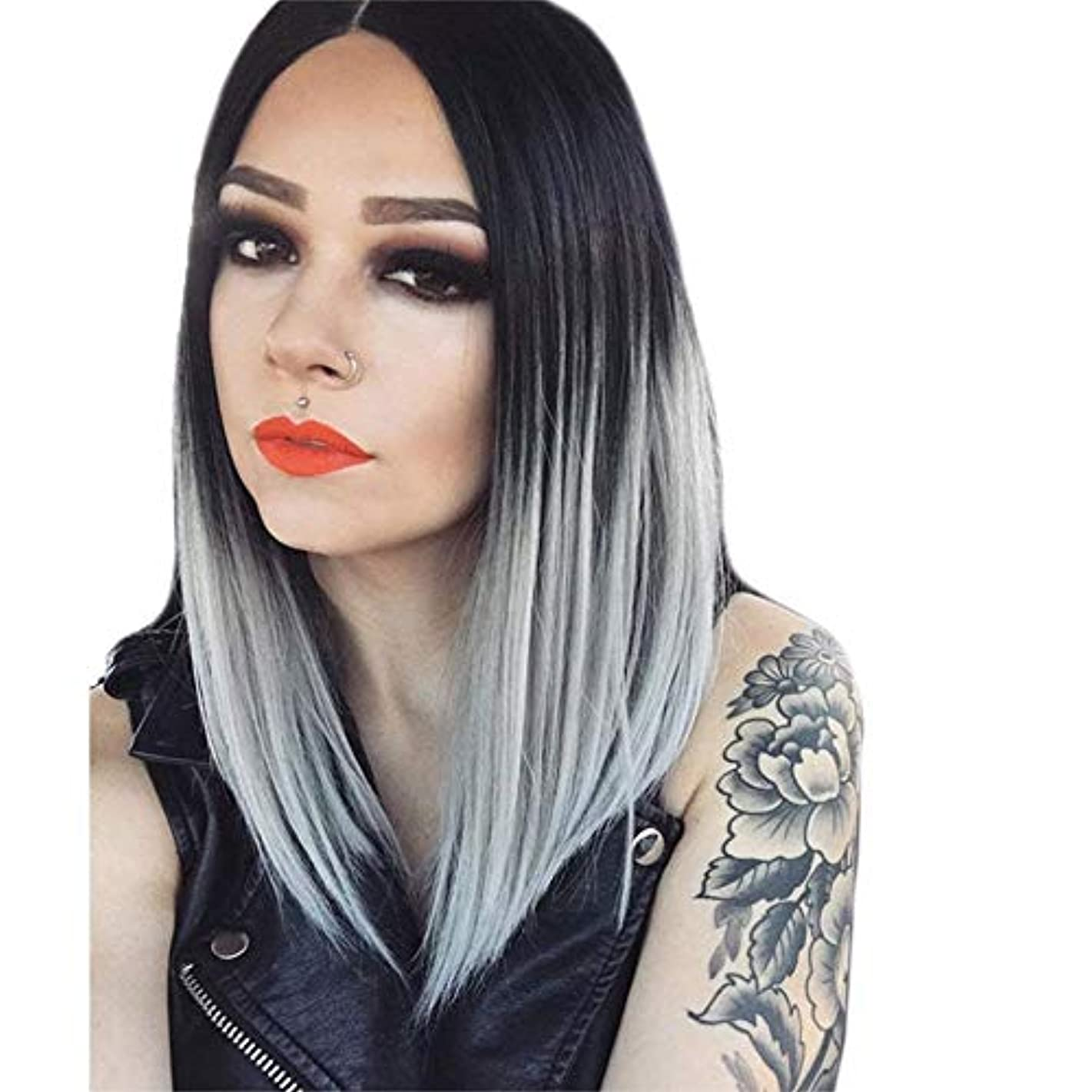 Lace High Temperature Fiber Long Straight Blonde Synthetic Lace Front Wig AfterSo
