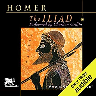 The Iliad                   Written by:                                                                                                                                 Homer,                                                                                        Richmond Lattimore - translator                               Narrated by:                                                                                                                                 Charlton Griffin                      Length: 22 hrs and 6 mins     2 ratings     Overall 5.0