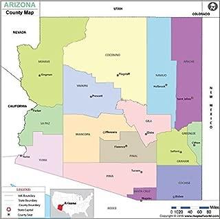 Arizona County Map - Laminated (36
