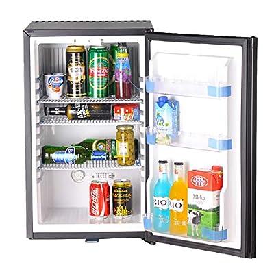 SMETA 110V 12V 1.6 cu ft Compact Refrigerator with Reversible Door,Low Noise Beverage Car Cooler Fridge,BLACK
