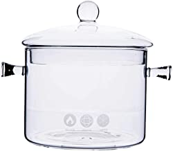 1.5L High Borosilicate Heat-resistantGlass Clear Pasta Instant Noodle Pot Pan Stew Cooker Baby Food Milk Sauce Hot Pot wi...