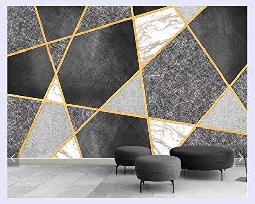 BHXINGMU Aangepaste 3D Geometrische Muren voor Woonkamer Slaapkamer Slaapbank Achtergrond Wanddecoratie Behang 220cm(H)×300cm(W)