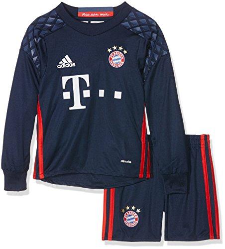adidas Jungen Torwart-bekleidungsset FC Bayern München Ausrüstung Home Goalkeeper Mini Kit, Nindig/Red/Nmarin, 92, AI0044