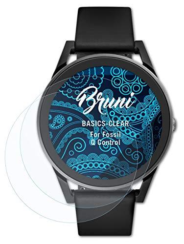 Bruni Schutzfolie kompatibel mit Fossil Q Control Folie, glasklare Bildschirmschutzfolie (2X)