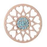 Morella Mujeres Coin Colgante Ornamento de corazón 33 mm para Damas