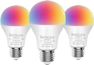 【Amazon Alexa認定 LED電球 】Bomcosy WiFiスマート電球 E26 7W AlexaとGoogle Homeで使用 調光調色 1600万色自由操作できる また3000Kから6500Kまで自由に調整 部屋の間接照明 枕元のライト ベランダ お祭り クリスマス 誕生日パーティなどの飾りに適応 3個セット
