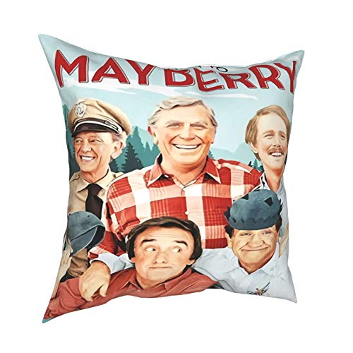 DSAWAT Andy Griffith Nip it Pillows Covers, Decorative Square Bedroom Living Room Cushion Cases for Couch Bed Sofa