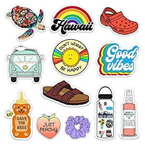 Lulu London – Cute Adventure VSCO Girl Stickers for Hydro Flask, Water Bottles, Laptops – 12 Pack Aesthetic Vinyl…