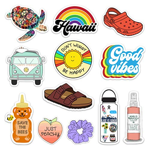 Find Bargain Lulu London - Cute Adventure VSCO Girl Stickers for Hydro Flask, Water Bottles, Laptops...