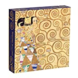 "Galison Gustav Klimt Expectation Puzzle, 500 Pieces, 20"" x 20"" – Stunning Puzzle Features One of Klimt's Most Famous Pieces – Challenging, Perfect Family Activity"