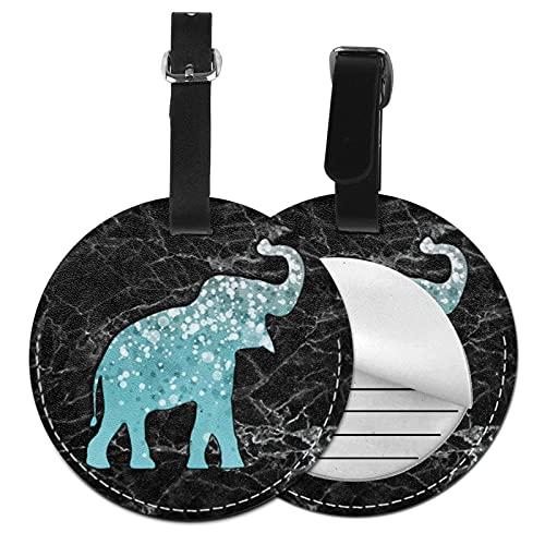 Etiquetas para Equipaje Bolso ID Tag Viaje Bolso De La Maleta Identifier Las Etiquetas Maletas Viaje Luggage ID Tag para Maletas Equipaje Plata Elefante Azul Gris Mármol Negro