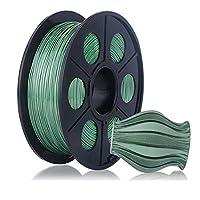 3Dプリンターフィラメント1.75mm、PLA-シルクフィラメント1 Kg(2.2 Lb)、美しい表面光沢-ブロンズ