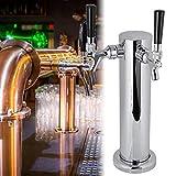 Grifo de cerveza Grifo de torre de cerveza Grifo de doble cabeza de acero inoxidable Festivales para cocina