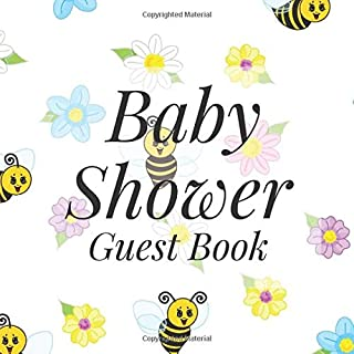 Baby Shower Guest Book: Bumble Bee Theme - Gender Reveal Boy Girl Signing Sign In Guestbook, Welcome New Baby with Gift Log Recorder, Address Lines, Prediction, Advice Wishes, Photo Milestones