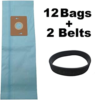 Cartener 12 Vacuum Bags for Riccar Supralite Simplicity Freedom Style F F3500 + 2 Belts
