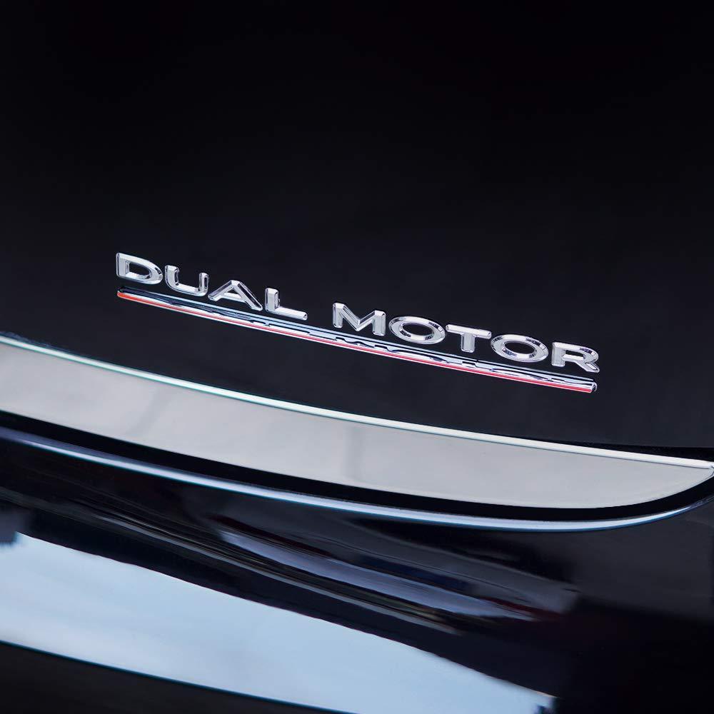 Model 3 Dual Motor Decals 3D Metal Car Rear Trunk Emblem Sticker Badge Decals Compatible Tesla Model 3 Decorative Accessories