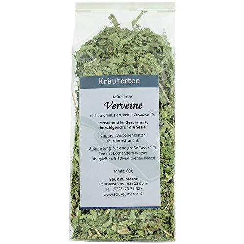 Kräutertee Kräuter Verveine Tee Verbenenblätter vom Zitronenstrauch ✔ Tea Chay Chai lose ✔ Teemischung ✔ ohne Zusatzstoffe, Aromastoffe & Konservierungsstoffe, 60g