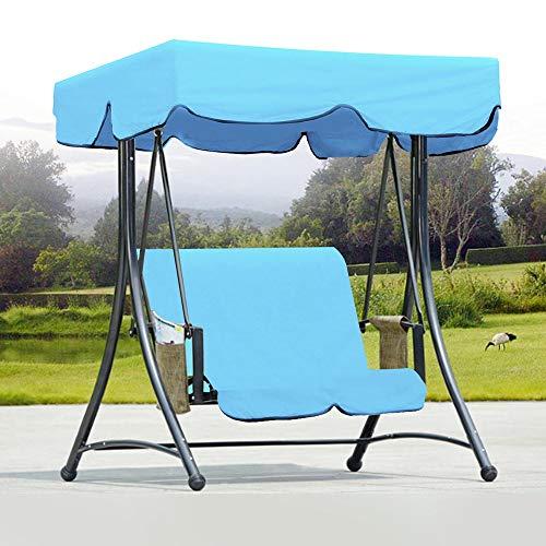 Baldachin Schaukeln Schaukel Garten Bench Hammock Canopy wasserdichte obere Abdeckung Sonnenschutz + 2-Sitzer Stuhl-Abdeckung Blau für Garden Patio Outdoor Seater ( Color : Blue , Size : One size )