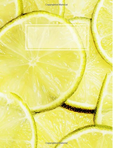 Lemons & Limes: Half Squared (Quad Grid) / Half Narrow Ruled Composition Book 8.5 x 11 inches
