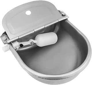 4L Bebedero Automático Bebedero Cuenco de Agua Tazón de Acero Inoxidable para Caballos, Cabras, Ovejas, Ganado (Valvula Plastica, Plateado)