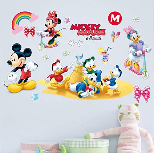 Disney Mickey Minnie Canard Stickers Muraux Bébé Chambres D'Enfant Chambre D'Enfant Décoration De La Maison Bande Dessinée Stickers Muraux Pvc Murale Art Diy Affiches 37X60Cm