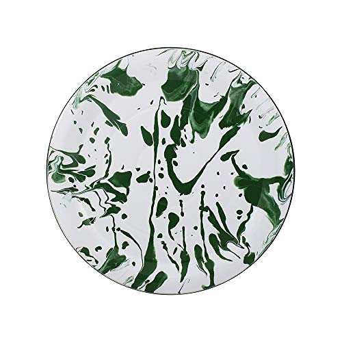 Prato para Bolo 32 Esmaltado Marmorizado Verde - Ewel