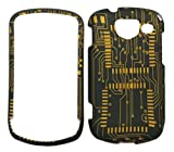 Circuit Board Design Rubberized Snap-on Protective Cover Case for Samsung Brightside U380