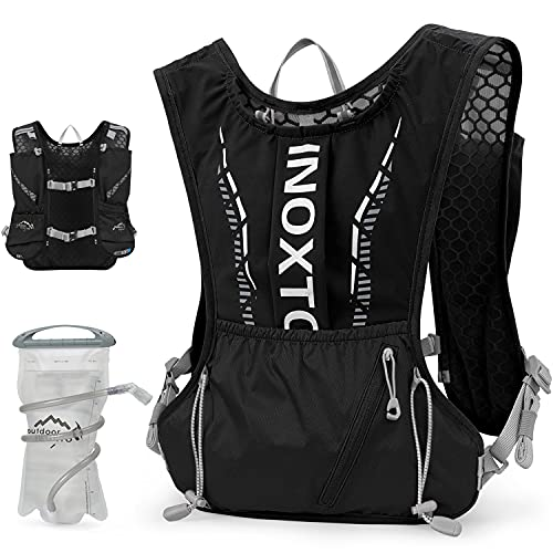 INOXTO Hydration Vest Backpack,Lightweight Insulated Pack with 1.5L Water Bladder Bag Daypack for Hiking Trail Running Cycling Race Marathon for Women Men Kids