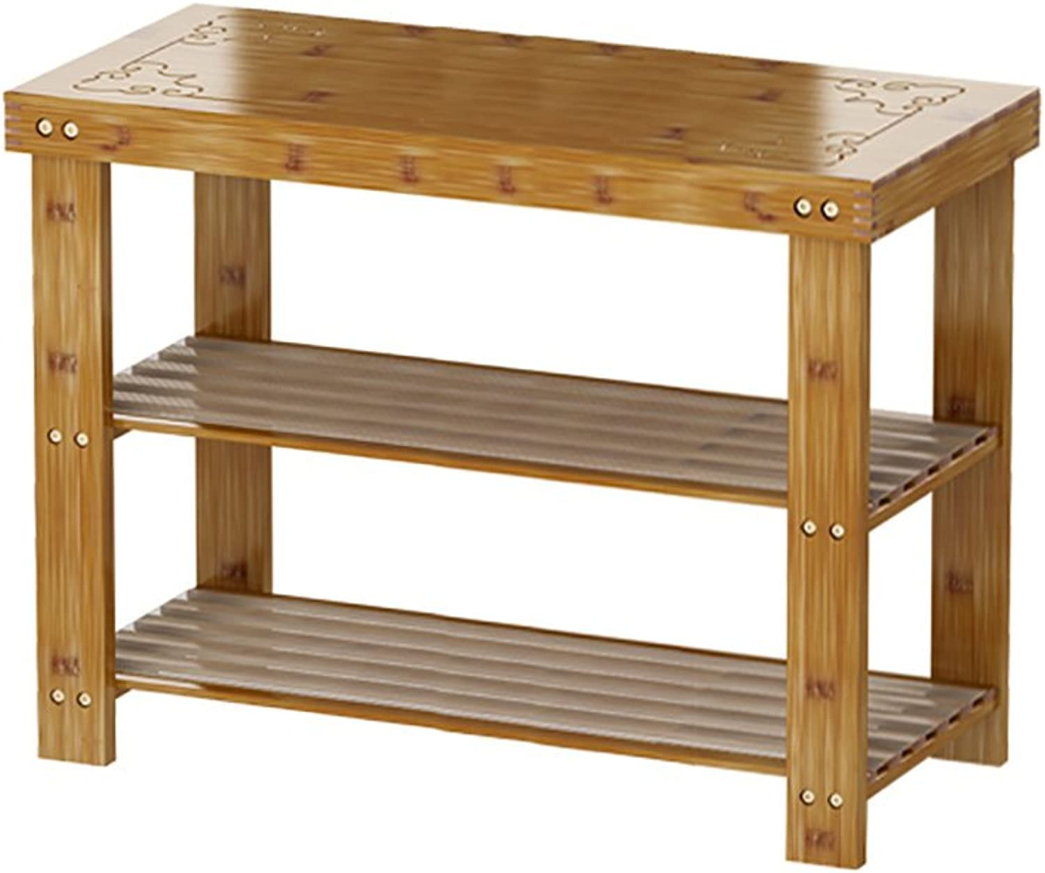 shoes Rack, 2-Layer Natural Bamboo shoes Rack, shoes Bench, Suitable Bathroom, Living Room, Bedroom Hallway (Size   45  28  40cm)