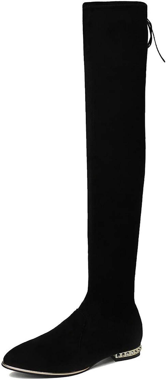 AdeeSu Womens Nubuck Solid Boots Urethane Boots SXE04837