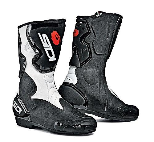 Sidi Fusion Motorradstiefel, Schwarz-Weiß, Größe: 39