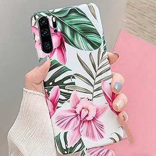 Herbests Kompatibel med Huawei P30 Pro fodral mobilskal blommor blad motiv mönster tunn mjuk gel TPU skyddande skal siliko...