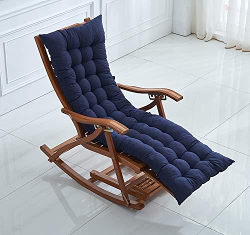 YINGLUO Cojín largo de banco con lazos de fijación, cojín antideslizante para silla de jardín de madera, colchón de repuesto suave de viaje, colchoneta de columpio para patio al aire libre