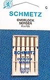 5Aiguilles Schmetz Machine à coudre pour machines Overlock ELX705Épaisseur 80/12