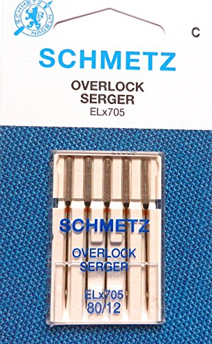 ELx705 Overlock Serger - Agujas para máquina de coser por Schmetz, tamaño: 80/12
