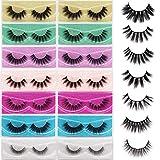 Veleasha Lashes Pack 14 Pairs 5D Faux Mink Lashes Multi Style False Eyelashes Wholesale Handmade Luxurious Volume Fluffy 7 Styles | Mix 2