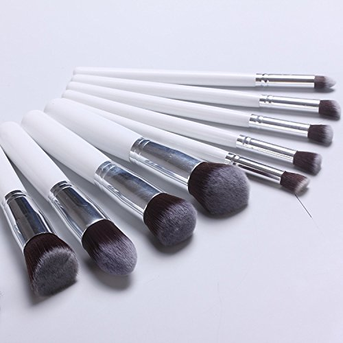 XUAN 10 brosses de maquillage noirs poignée brosse 5 gros maquillage petit 5 outils monétaires , b