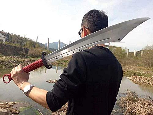 VARWANEO Chinese Kungfu Broadsword Sword Wushu Da Dao Sharp High Manganese Steel Red Army Saber Outdoors Battle Broad Knife