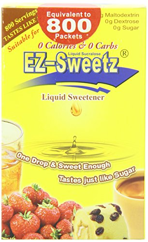 EZ-Sweetz (2.0oz - Liquid Sweetener 800 Servings/Bottle) (Original, 1 Pack)