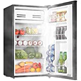 Mini Fridge, AICOOK 3.2 Cu.Ft Compact Refrigerator with Small Freezer, Energy Star Reversible Door Mini Refrigerator with Adjustable Temperature, Removable Shelves, Ultra-Quiet for Bedroom Office Dorm