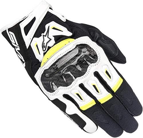 guanti alpinestar estivi Alpinestars SMX-2 Air Carbon V2 Glove Nero Bianco Giallo Fluo M